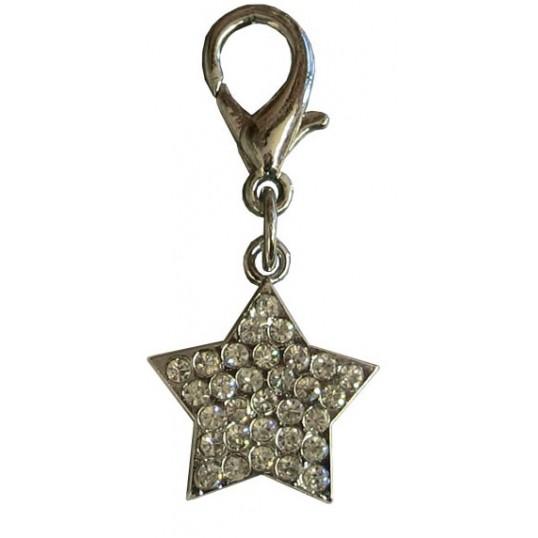 """Vedhæng, """"Diamant""""-Stjerne i sølv-look"""