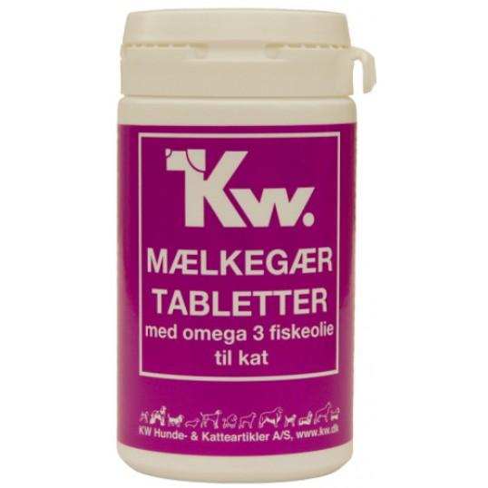 KW mælkegær tabletter med omega 3 fiskeolie. 100 tab.