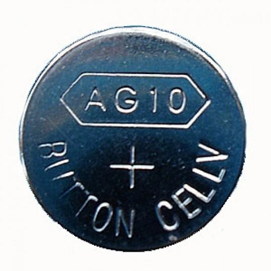 Reservebatteri. AG10 (1,5 V)