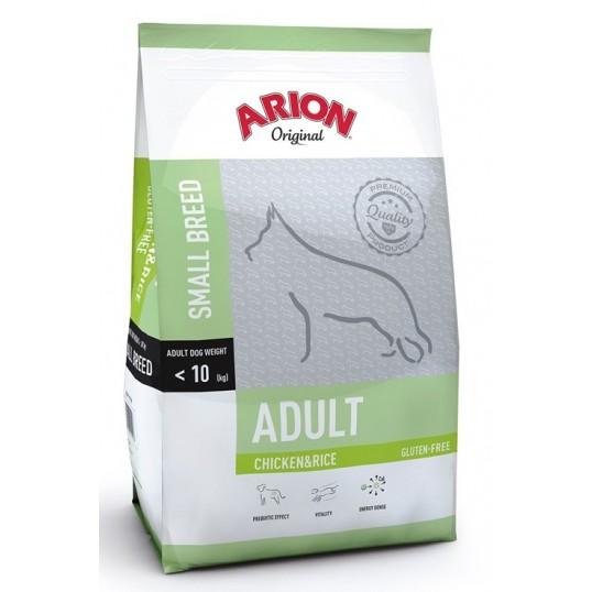 Arion Original Adult Small Breed hundefoder med Kylling og Ris. Til hunde mellem 1-9 år, der vejer op til 10 kg. 7,5kg