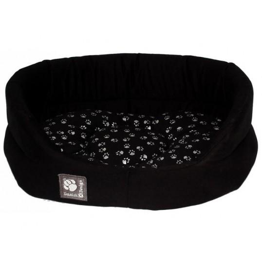 Sort kvalitets seng med vendbar pude