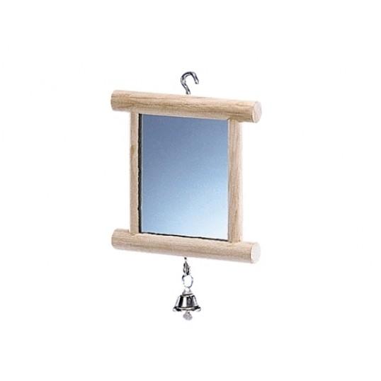 Dobbeltsidet spejl med klokke.