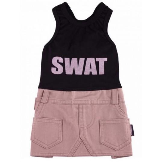 Doggydolly SWAT kjole. Sort og Beige.