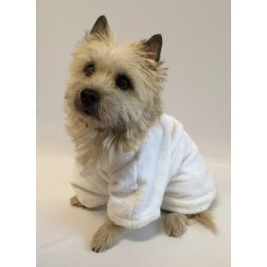 DoggyDolly hvid badekåbe