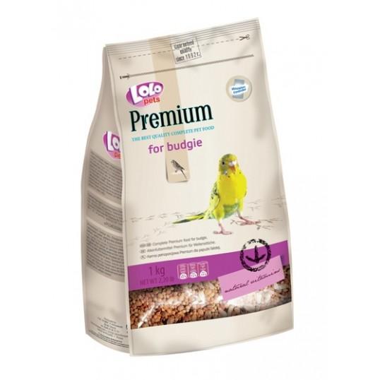 Premium undulatfoder. 1000 g. Sendes med fragtmand.