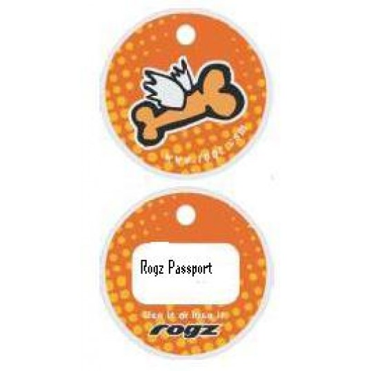 Rogz Passport hundetegn Flying Bone. 2 størrelser.