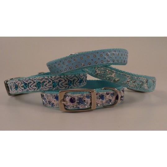 Halsbånd. Fashion blå.