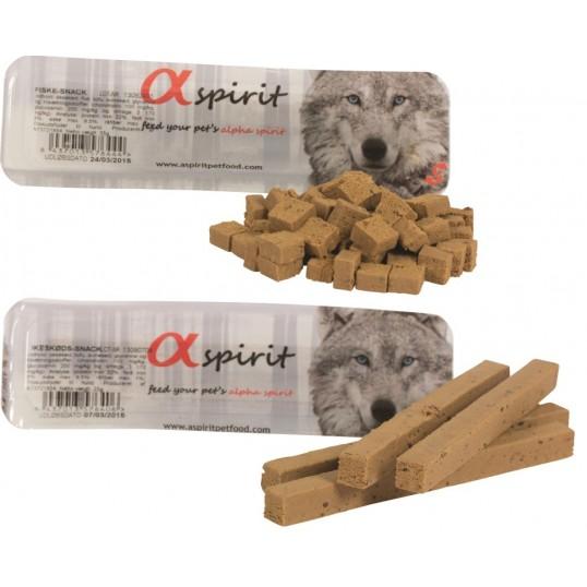 Alpha Spirit bløde godbidder. Indeholder IKKE kødmel, gluten eller korn.