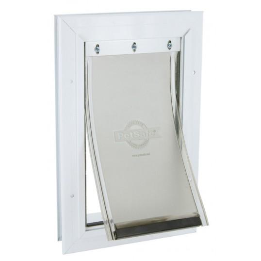 Hvid Aluminiumsdør. Small, op til 7kg