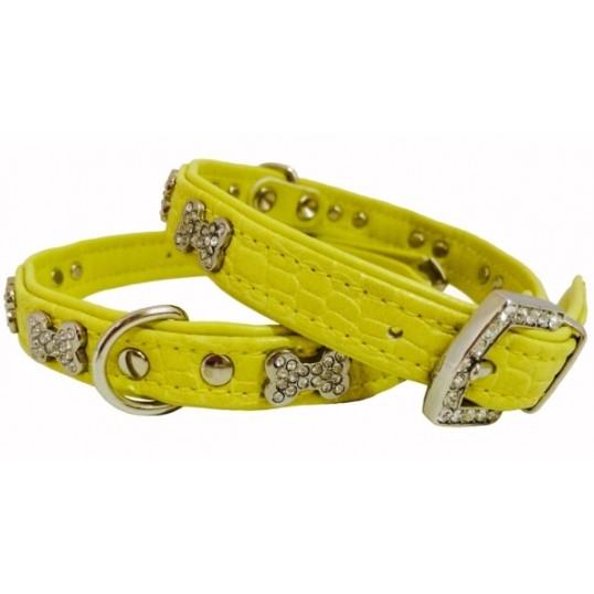 "Hunter Smart Croque Bone halsbånd med kødben med ""diamanter""."