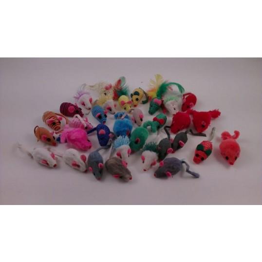 Kattelegetøj. 10 styk assorteret mus