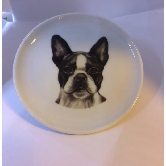Platte med Boston Terrier