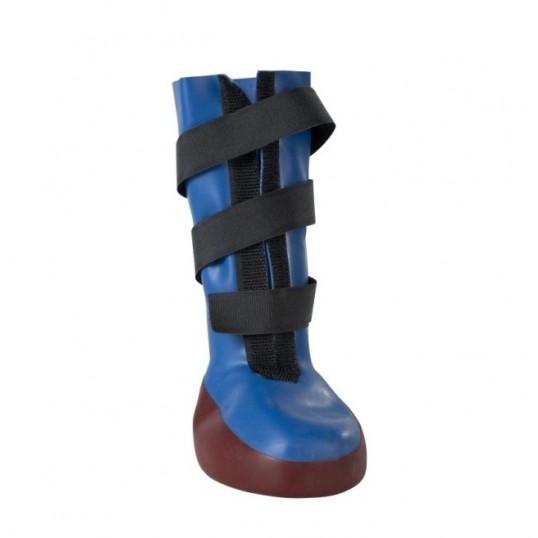 BUSTER Dog Boot hundestøvle m/sål (blå/rød). Indeholder 1 stk.