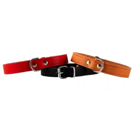 Halsbånd Basic læder.