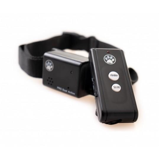 NO Bark collar Anti-gø halsbånd m. vibration og lyd. Med sensor el. fjernkontrol.