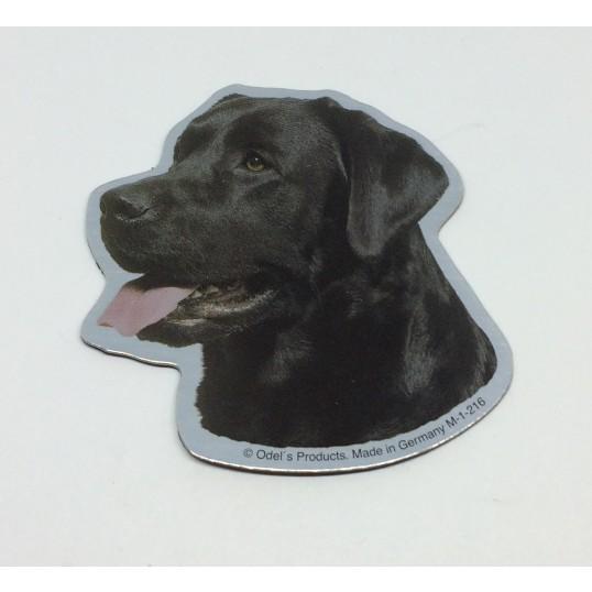 Magnet med Labrador, sort.