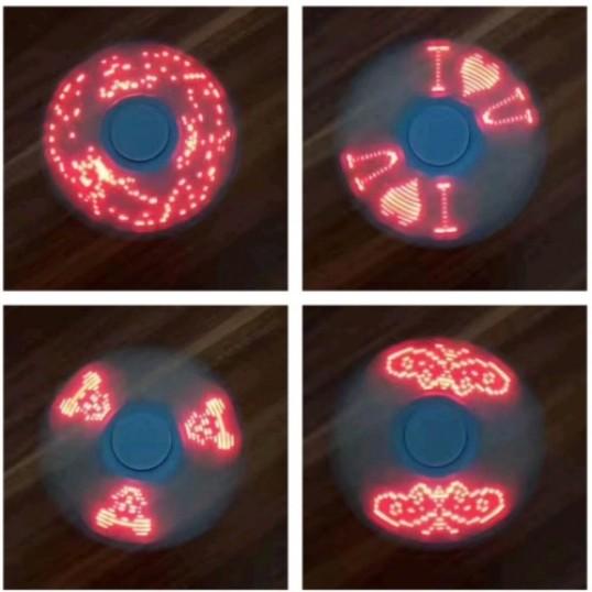 """Fidget spinner """"LED"""" Med lysende skrift"""
