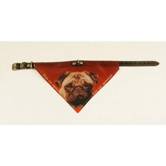 Bandana halsbånd med motiv af Mops.