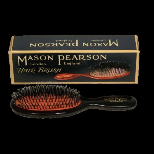 Mason Pearson Børste. Pocket. Mixede børster. Sort. (BN4).