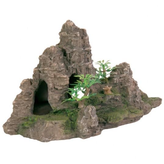 FJeld med huler og planter