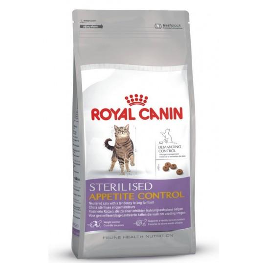 Royal Canin Sterilised Appetite Control. Til steriliserede/kastrerede katte med tendens til at tigge. 1-7 år.