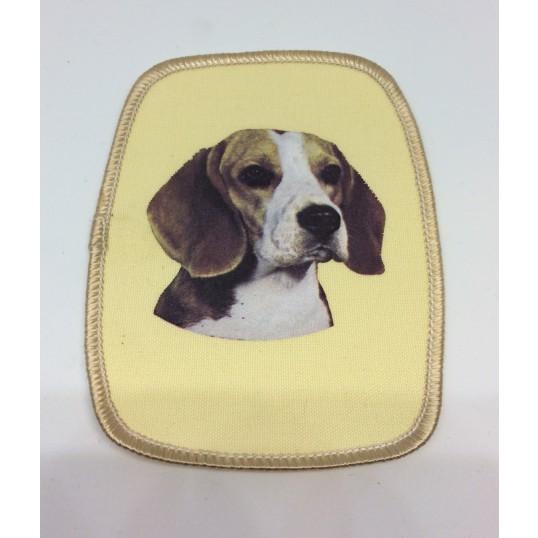 Stofmærke med Beagle