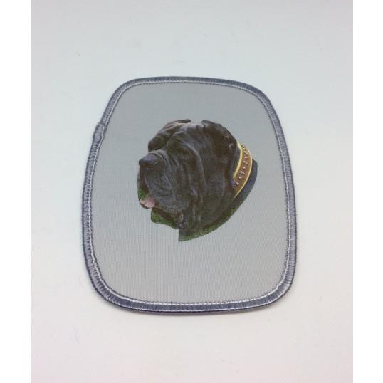 Stofmærke med Neapolitansk Mastiff