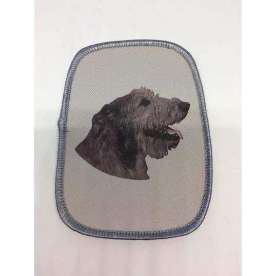 Stofmærke med Irsk Ulvehund