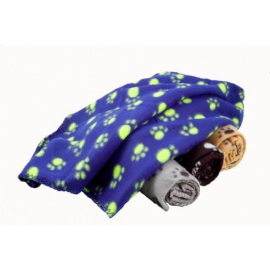 Kulørt tæppe med poter 1 stk.