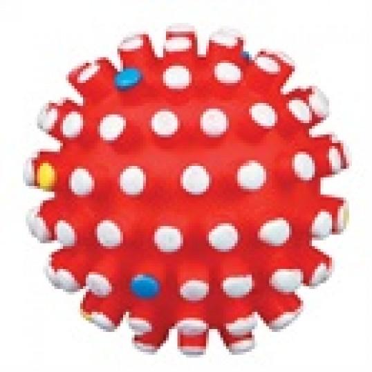 Hundelegetøj Pindsvinebold i vinyl med dupper & piv.