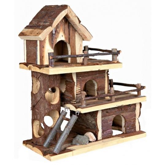 Gnaver hus TAMMO lejlighed til mus og hamster. mål: 25 x 30 x 12 cm.
