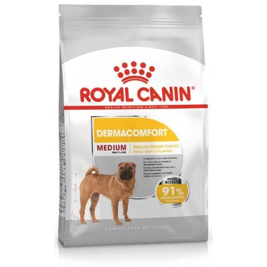 Royal Canin Medium DermaComfort. (irriteret / kløende hud). Hunde over 12 måneder
