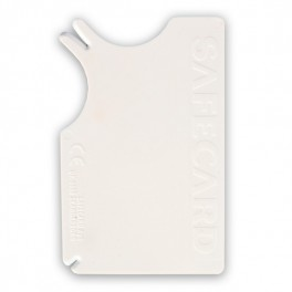 Safecardskovfltfjerner8x5cmKreditkortformatHvid-20