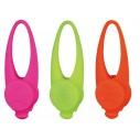 Flasher til hunde. Kan nemt sættes rundt om eks. halsbåndet. I silikone. Måler 8 cm. Ass. farver.