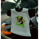 Jack Russell Terrier, glathåret, hv. Vælg: klistermærke, nøglering, broche, slipsenål, mm.