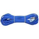 ALAC sporline i gummi blå. VINTERsporline 15 m. x 6mm.
