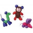 """Kong Cat Softies Baloon Buddies - """"Strikket ballondyr"""". 1 stk. Ass. figur."""