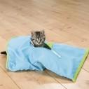 Knitresæk i stof/plys til katte