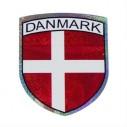 Klistermærke med det Danske flag.