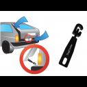 DogCooler i kraftig metal. Giv din hund frisk luft i bilen