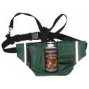 GS mørkegrøn bæltetaske med vandflaske
