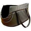Transporttaske i sort læderlook