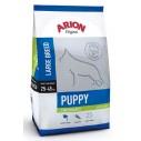 Arion Original Puppy Large Breed hundefoder med Kylling og Ris. Til hvalpe op til 1 år, med en voksenvægt på 25-45 kg. 12kg