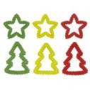 Jule-bidering. Ass. farver