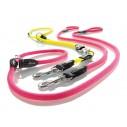 Hunter Freestyle Neon Labradorline med 2 stop. Længde 170 cm / Bredde 10 mm