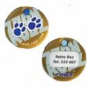 Rogz Passport hundetegn Paws. 2 størrelser.