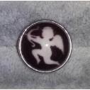 Snapknap med Amors pil på sort/brun baggrund
