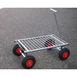 Amalie Offroader trolley (gitter) 87 x 55 cm, med hjul. Ø 26 cm.