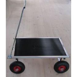 Amalie Offroader trolley med plade 87 x 55 cm og hjul. Ø 26 cm.
