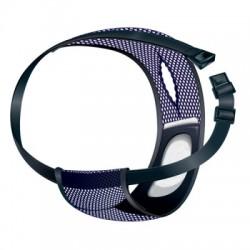 Løbetidsbukser i åndbar netmateriale blå